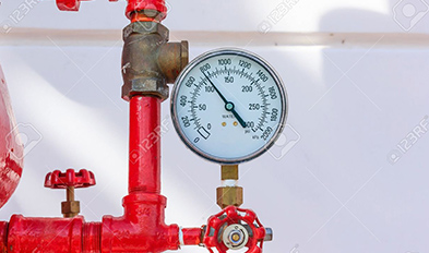 Fire Pipeline Pressure Gauge